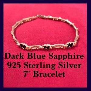 BNWT- Dk. Blue Sapphire & Sterling Silver Bracelet